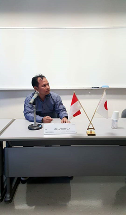 PRESENTASI BISNIS OLEH KOMISARIS PT ISRA PRESISI INDONESIA  DALAM KEGIATAN   PELATIHAN IDCM DI AOTS JEPANG  TAHUN 2015